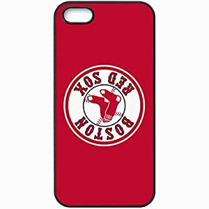 Personalized iPhone 5 5S Cell phone Case/Cover Skin Baseball Boston Red Sox 4 Sport Black