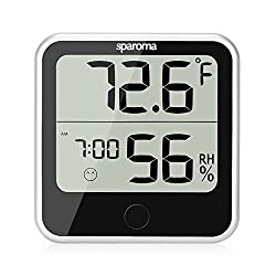 Indoor Humidity Temperature Monitor – Digital Hygrometer Humidity Meter with Temperature Humidity Gauge, Built-in Clock and Time Display for Temperature Humidity Measurement