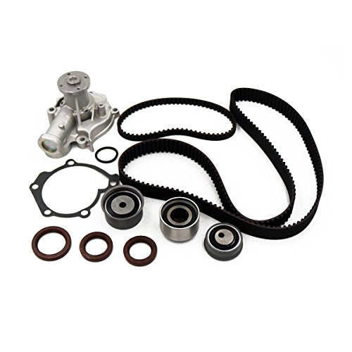 Kit Pump Shaft - Timing Belt Kit Water Pump w/Tensioner Fits 2.4L G4JS 1999-2006 Hyundai Sonata Santa Fe Kia Optima 16v