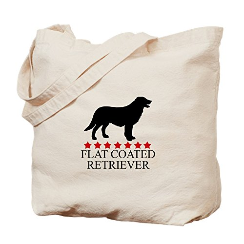CafePress Flat Coated Retriever (Red St Natural Canvas Tote Bag, Cloth Shopping - Bag Tote Silhouette Pets