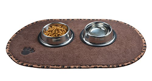 Sinland Microfiber Pet Bowl Food Mat Dish Drying Mat with anti-skid backing (16.14