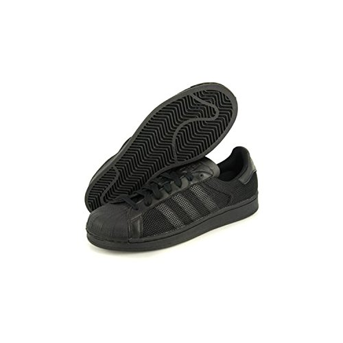 Adidas Originali Mens Superstar Triple Core Nero / Nero Nucleo / Nero