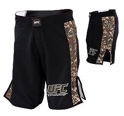 UFC Digital Camo Fight Shorts-Black/Army Green by UFC