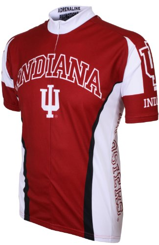 NCAA Indiana Cycling Jersey, Large,Red/White