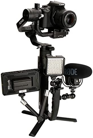 Ulanzi PT-3 Triple Cold Shoe Mounts Plate,Microphone Led Video Light Stand Extension Compatible for DJI OSMO Mobile 2//Zhiyun Smooth 4//Feiyu Vimble 2 Gimbal Stabilizer