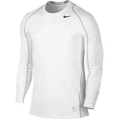 Men's Nike Pro Cool Top White/Matte Silver/Black Size Medium