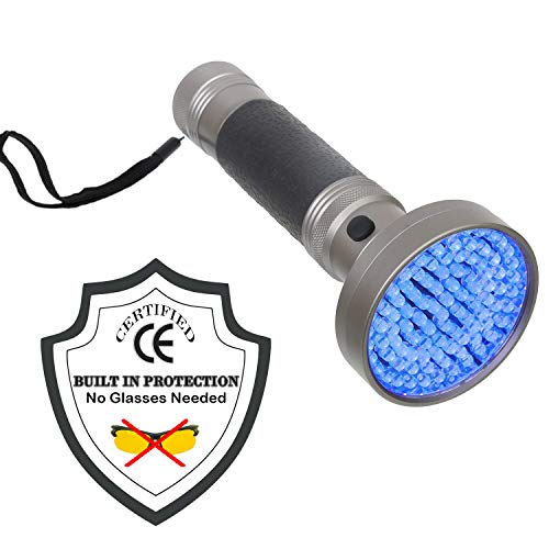 - Black Light UV Flashlight 100 LED Blacklight Premium Handheld Ultraviolet Pet Dog and Cat Urine Stain Finder Detects Human Fluids, Counterfeit Money, Bed Bugs Scorpions & Leaks - Arf Pets