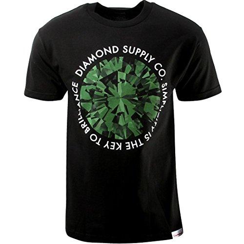 diamond supply co black and green - 1