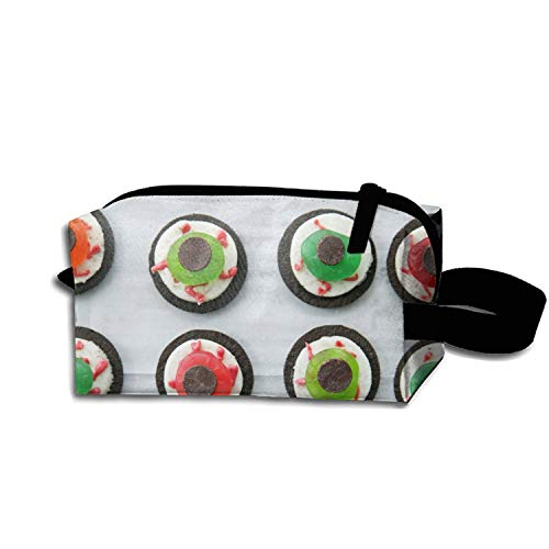 Halloween Eyeball Dessert Travel Toiletry Kit Multifunction Durable Makeup Case -