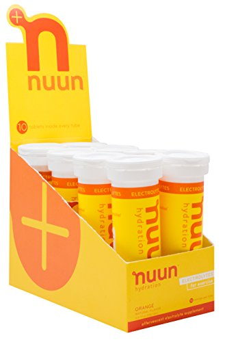 Nuun Hydration: Electrolyte Drink Tablets, Orange, Box of 8 Tubes (80 servings), to Recover Essential Electrolytes Lost Through Sweat