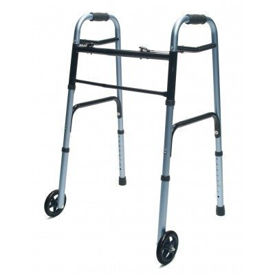 Lumex 716270BK-1 Everyday Walker with 5'' Wheels, Dual Release, Black