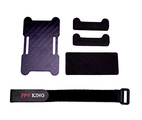 FPVKing LiPo Battery Protection Base Plate  20mm x 250mm Non-slip Battery Strap and Mat Pads for RC 3S 4S LiPo Battery FPV Racing Drone Quadcopter Frame