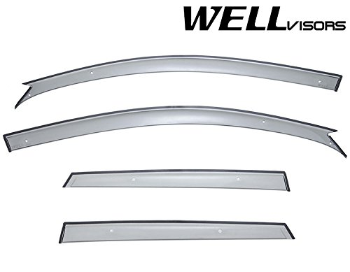 WellVisors Window Vent Visors 04-09 Mazda 3 Hatchback Sleek HD Ventilation