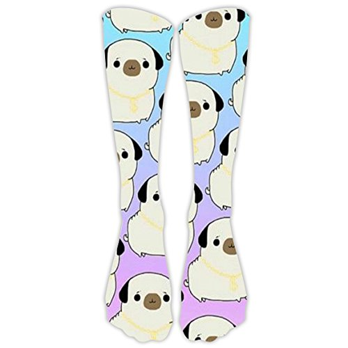 Lskfun Unisex Long Sock 3D Printed Cute Dog Colorful Patterned High Socks (3 Pinocchio's Part Christmas)