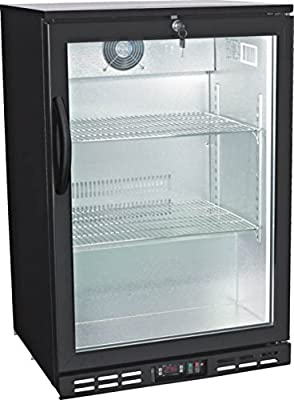 "24"" Single Door Glass Back Bar Beverage Cooler ( )"