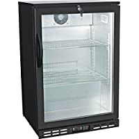 24 Single Door Glass Back Bar Beverage Cooler ( )