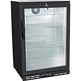 24″ Single Door Glass Back Bar Beverage Cooler ( )
