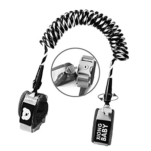 Toddler Harness Walking Leash- Child Anti Lost Wrist Link – Child Safety Harness – Upgrade with Reflective(6.5ft) – for Boys and Girls to Disneyland, Zoo or Mall.(Cool Black)