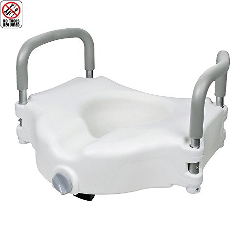 Jcmaster Elevated Raised Toilet Seat With Removable Padded