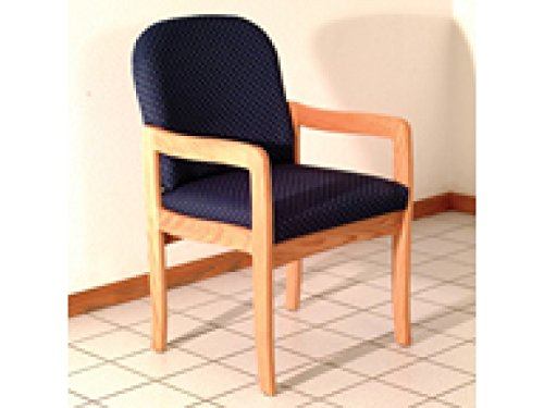 Prairie Series Standard Leg Guest Chair Wood Finish: Light Oak, Fabric: Arch Blue by Wooden Mallet