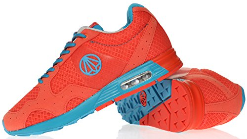 Paperplanes-1147 Moda Unisex Casual Air Cushion Training Sneakers Zapatos 1148-red Blue