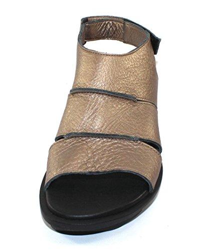 Arche Kvinna Ikhana I Månen Snabb Metall Pearlized Läder - Metalliskt Tenn - Storlek 38 M