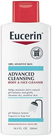 Eucerin Advanced Cleansing Body & Face Cleanser - Fragrance & Soap Free for Dry, Sensitive Skin - 16.9 fl. oz Bottle
