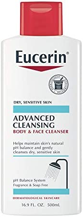 Eucerin Advanced Cleansing Body and Face Cleanser - Fragrance and Soap Free for Dry, Sensitive Skin - 16.9 fl.
