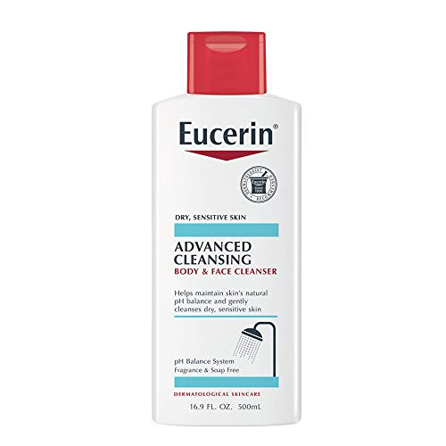 (Eucerin Advanced Cleansing Body & Face Cleanser - Fragrance & Soap Free for Dry, Sensitive Skin - 16.9 fl. oz Bottle)