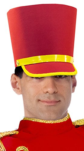 Forum Novelties Men's Deluxe Toy Soldier Hat, Red/Gold, One (Rockettes Toy Soldier)