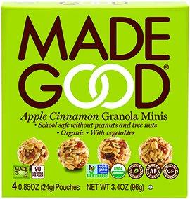 Made Good Granola Minis Apple Cinnamon, 24 gram, (Pack of 6) Apple Granola Bars