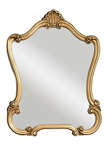 Ornate Gold Shaped Arch Wall Mirror | Antique Victorian Design