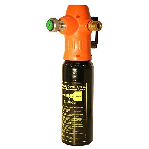 Cadex CGR-120 CO2 Regulator, Hose, Bottle & Coupler, 0 - 120 Psi