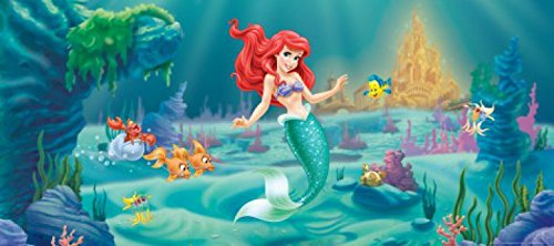 The Little Mermaid Poster Photo Wallpaper - Fabius And Fish-Friends, 1-Part (80 x 35 inches)