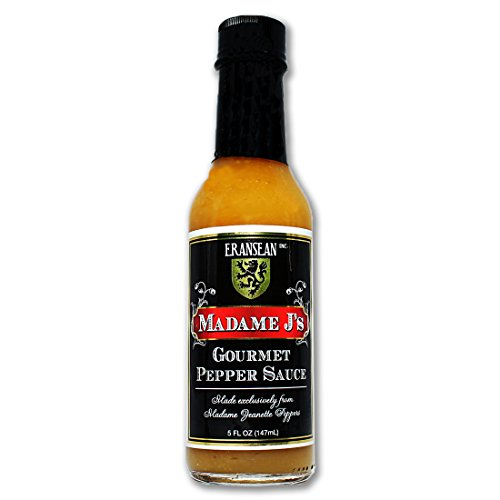 ERANSEAN Madame J's Gourmet Pepper Sauce/made from exclusively grown Madame Jeanette Peppers/natural unique flavor and heat/gluten free/shake bottle - 5 Fl. Oz. by ERANSEAN, Inc.