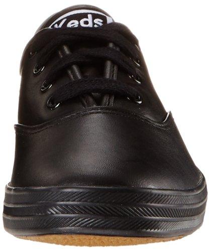 Keds Womens Mästare Ursprungliga Läder Sneaker Svart