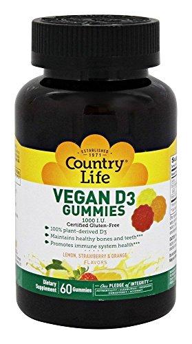 Vegan D3 Gummies Country Life 60 Gummy
