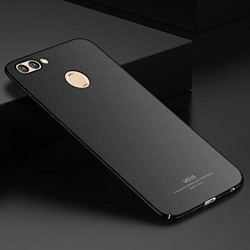 Coque Huawei nova 2, MSVII® PC Plastique Coque Etui Housse Case et Protecteur écran Pour Huawei nova 2 - Noir JY30026