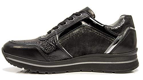 6414 Scarpe 100 Sportive Nere Nero Donna Con Nerogiardini Sneaker A806414 Cerniera ta7AAq