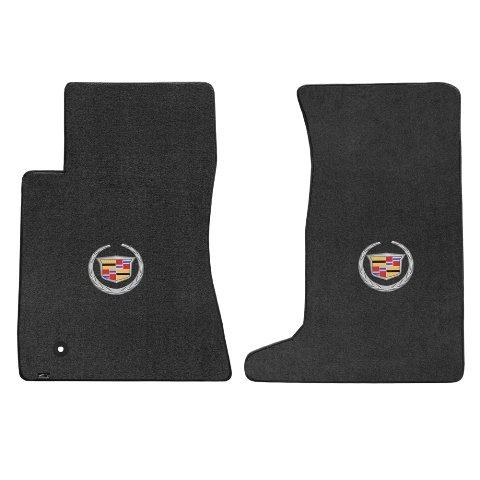 Cadillac CTS AWD Coupe 2 Piece Lloyd Mats Velourtex Ebony Carpet Floor Mats w/Cadillac Logo (Cadillac Cts Awd)