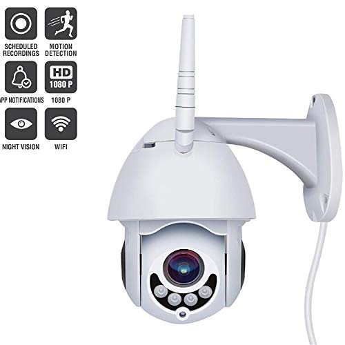 2019 Upgraded Full HD 1080P Security Surveillance Cameras Outdoor Waterproof Wireless PTZ Camera with Night Vision - IP WiFi Cam Surveillance Cam Audio Motion Activated