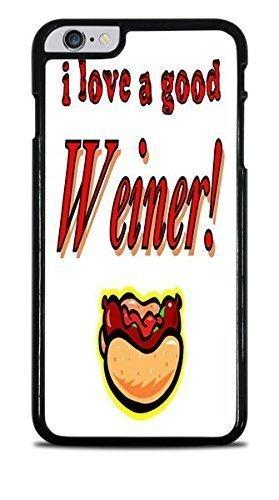 I Love a Good Hot Dog Weiner Black Hardshell Case for iPhone 6+ (5.5)
