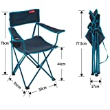 Outdoors Folding Chairs,Portable Folding Chair,Portable Quad Mesh Back with ,with Hard armrests (Color : 1)
