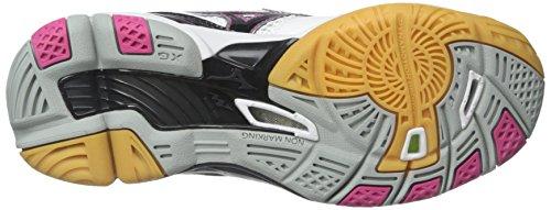 Mizuno Frauen Wave Tornado 9 Womens Wh-Pk Volleyball-Schuh Weiß / Pink