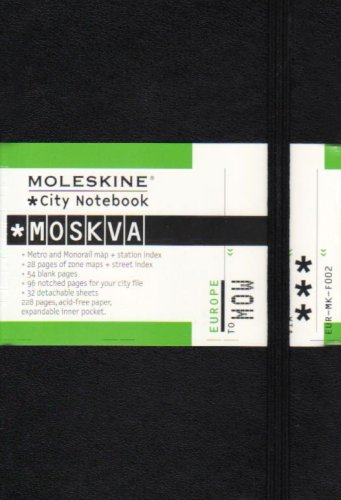 Moleskine City Notebook - Moscow, Pocket, Black, Hard Cover (3.5 x 5.5) by Moleskine (Image #1)
