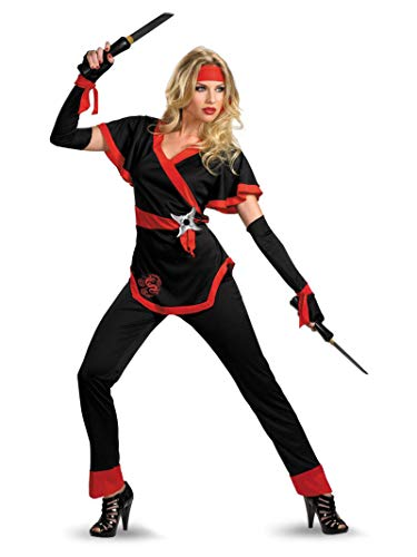 Operation Man Halloween Costume (Disguise Women's Ninja Dragon Costume, Black/Red,)