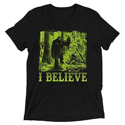 (I Believe In Bigfoot Team Sasquatch Bigfoot Believer Halloween Costume Handmade T-Shirt Hoodie Long Sleeve Tank Top)
