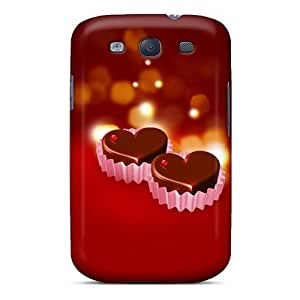 New Arrival Case Cover With MbkuGtY3400PunKH Design For Galaxy S3- Chocolate Hearts