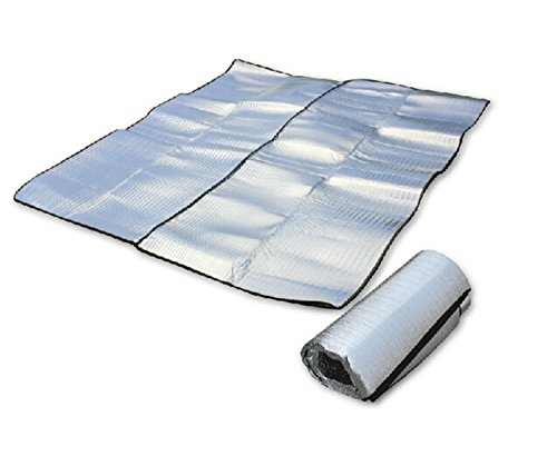 Outdoor Manager-Outdoor Camping Hiking Double-Sided Aluminum Foil Camping Cushion Moisture-proof Mat Blankets Foldable