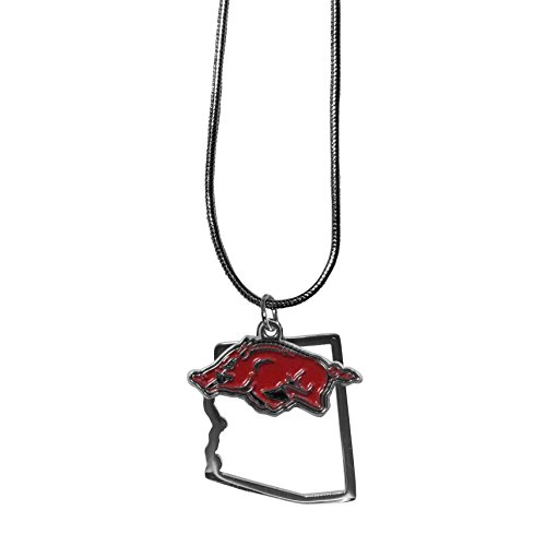 NCAA Arkansas Razorbacks Womens State Charm Necklace 16